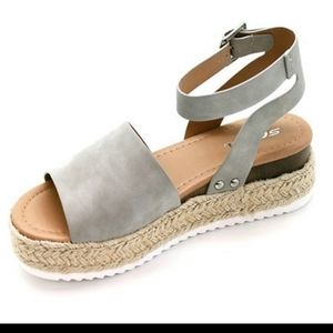 Soda Gray Espadrille Sandals 🔥